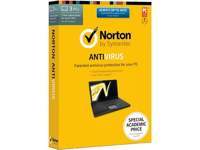 Symantec Norton AntiVirus 2014 Academic - 3 PCs Download