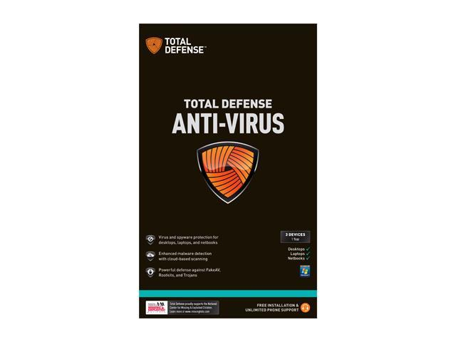 Total Defense Anti-Virus – 3 PCs