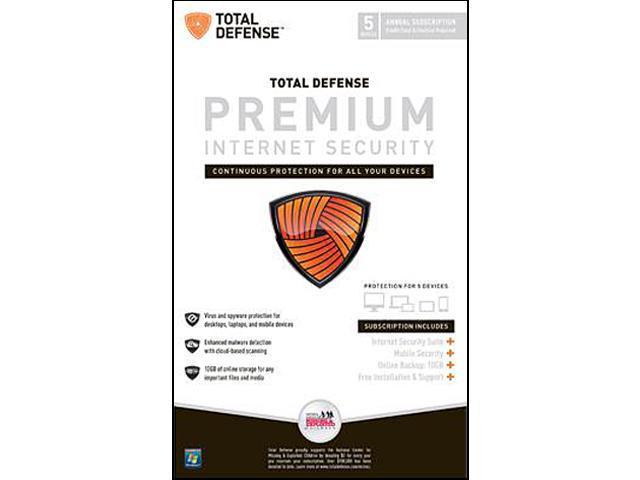 Total Defense Premium Internet Security - 5 User (DVD)