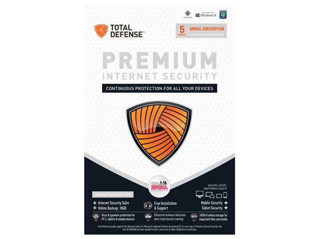 Total Defense Premium Internet Security 5 Devices - Download
