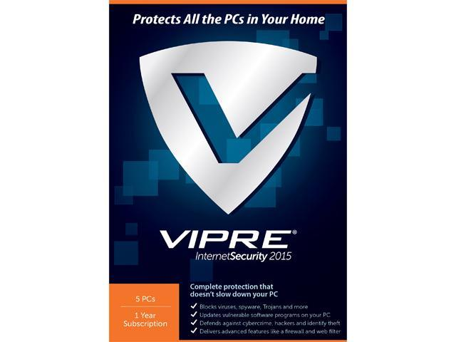 ThreatTrack Security VIPRE Internet Security 2015 - 5 PC License 1 Year
