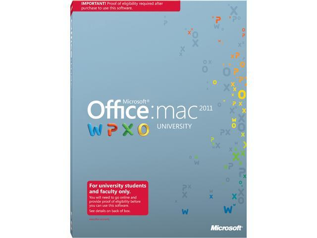 Microsoft Office University 2011 Academic Edition Mac English