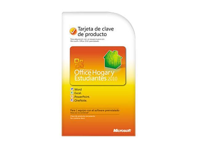Microsoft Office Office Home and Student 2010 Spanish - 1 PC - Download