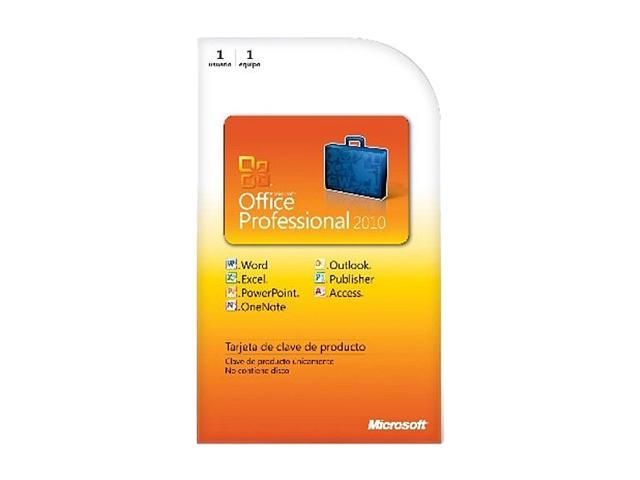 Microsoft Office Office Professional Spanish 2010 - 1 PC - Download