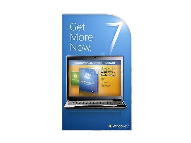 Microsoft Windows 7 Anytime Upgrade: Home Premium to Professional - Online Code