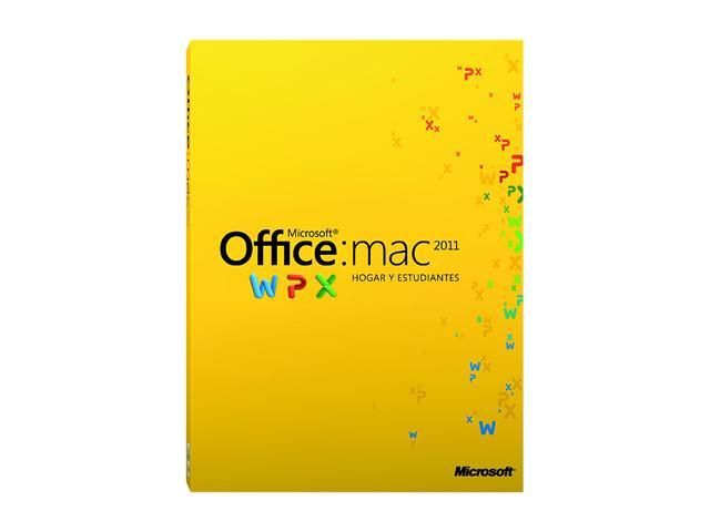 Microsoft Office Office Mac Home Student 2011 Spanish - 1 Mac - Download