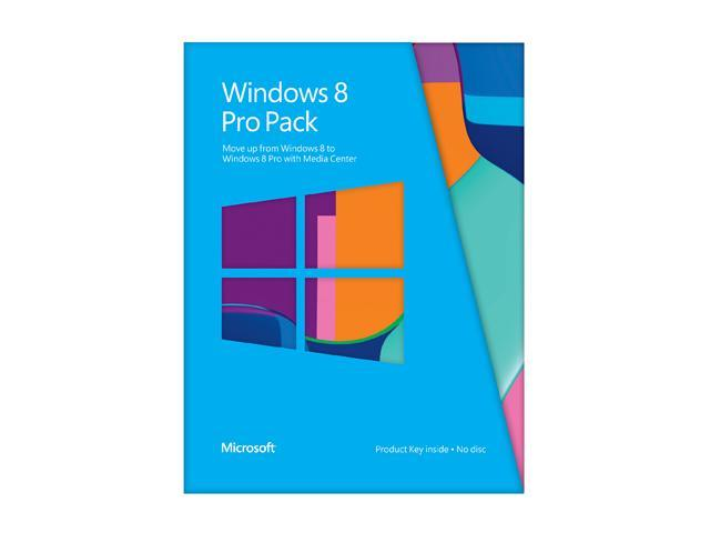 Microsoft Windows 8 Pro Pack (Win 8 to Win 8 Pro Upgrade) - Online Code