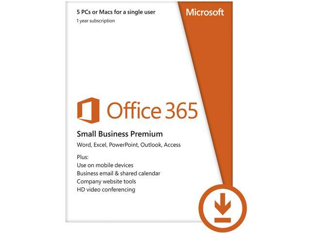 Microsoft Office 365 Small Business Premium 5 Devices - 1 Year Subscription - Download