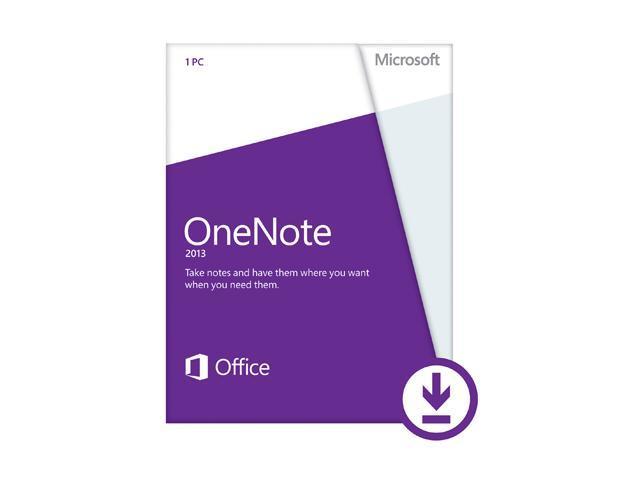Microsoft OneNote 2013 (Non-Commercial) - Download - 1 PC