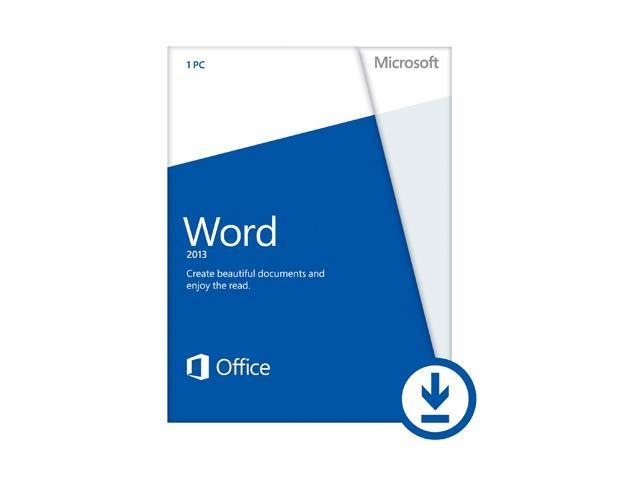 Microsoft Word 2013 (Non-Commercial) - Download - 1 PC