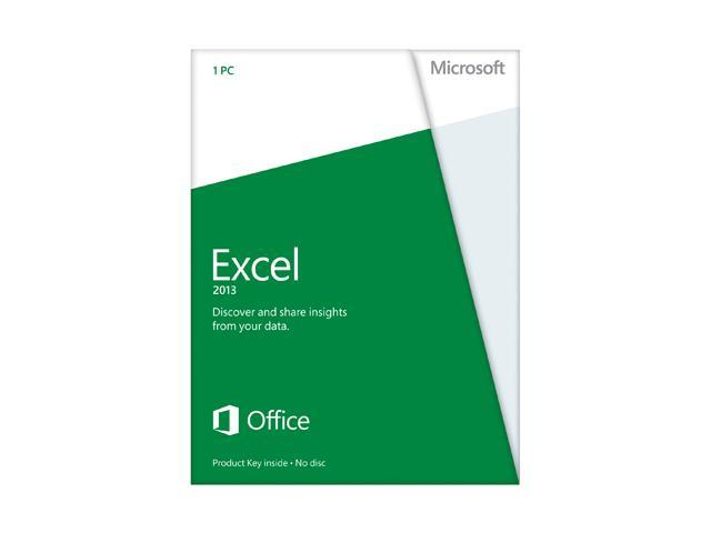 Microsoft Excel 2013 Product Key Card (no media) Non-Commercial - 1 PC