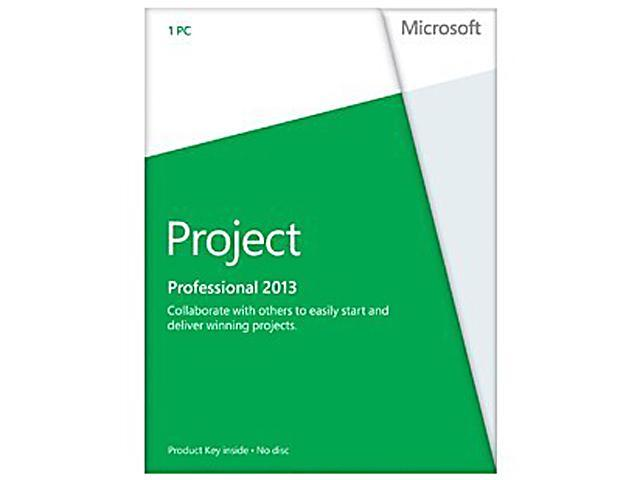 Microsoft Project Professional 2013 Product Key Card (no media) - 1 PC