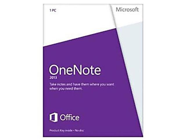 Microsoft OneNote 2013 Product Key Card (no media) - 1 PC