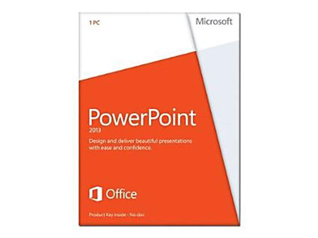 Microsoft PowerPoint 2013 Product Key Card (no media) - 1 PC