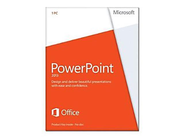 Microsoft PowerPoint 2013 Product Key Card (no media) - 1 PC
