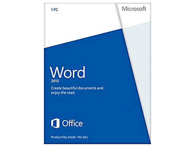 Microsoft Word 2013 Product Key Card (no media) - 1 PC