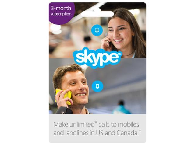 Skype - Prepaid 3 Month Unlimited US & CA Subscription