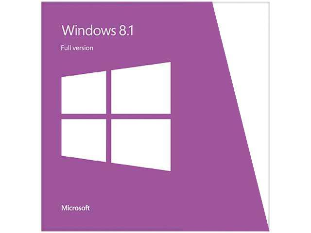 Microsoft Windows 8.1 - Full Version (32 & 64-bit)