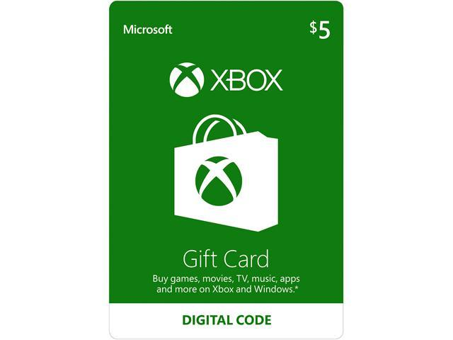Microsoft Xbox Gift Card $5 US (Email Delivery)