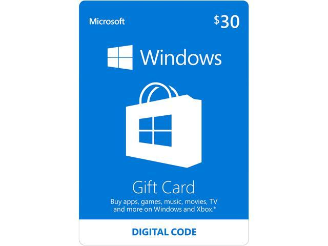 Microsoft Windows Store Gift Card - $30 (Email Delivery)