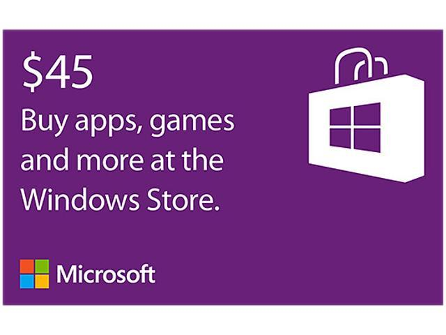 Microsoft Windows Store Gift Card - $45 (Email Delivery)