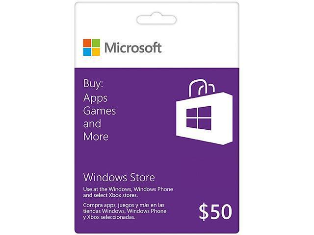 Microsoft Windows Gift Card $50