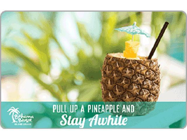 Bahama Breeze $100.00 Gift Card (Email Delivery)