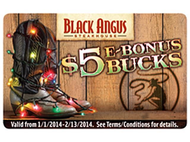 Black Angus Steakhouse $5 Gift Card (Email Delivery)