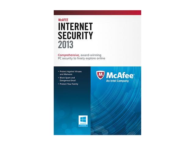 McAfee Internet Security 2013 - 1 PC (Product Key Card)