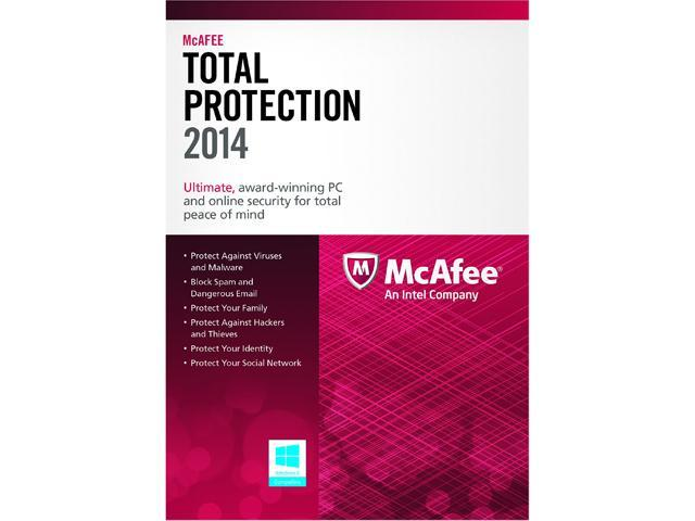 McAfee Total Protection 2014 - 3 PCs (Product Key Card)