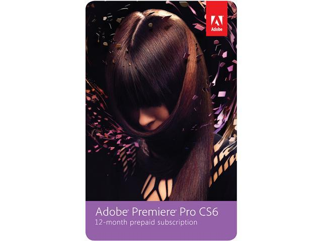 Adobe Premiere Pro CS6 - 12 Month Subscription - Digital Delivery
