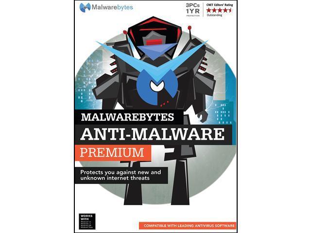 Malwarebytes Anti-Malware Premium 2.0 - 3 PCs / 1 Year