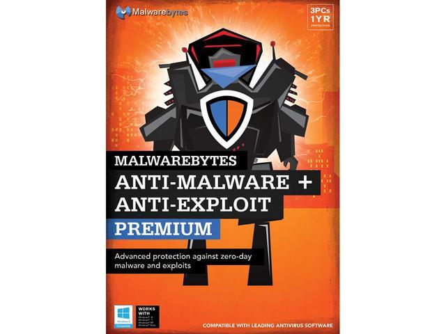 Malwarebytes Anti-Malware Premium + Anti-Exploit Premium - 3 PCs / 1 Year - Download