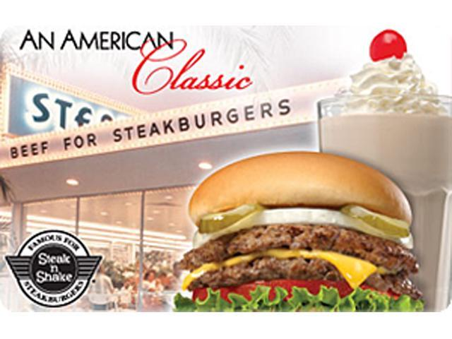 Steak'n Shake $50 Gift Card (Email Delivery)