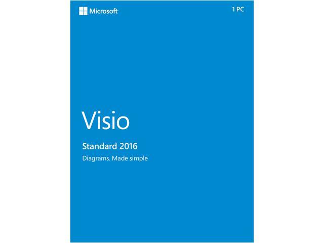 Microsoft Visio Standard 2016 Product Key Card - 1 PC