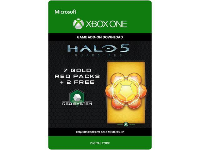 Halo 5: Guardians: 7 Gold REQ Packs + 2 Free XBOX One [Digital Code]