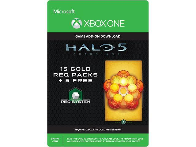 Halo 5: Guardians: 15 Gold REQ Packs + 5 Free XBOX One [Digital Code]