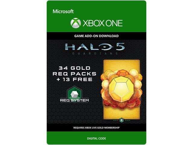 Halo 5: Guardians: 34 Gold REQ Packs + 13 Free XBOX One [Digital Code]