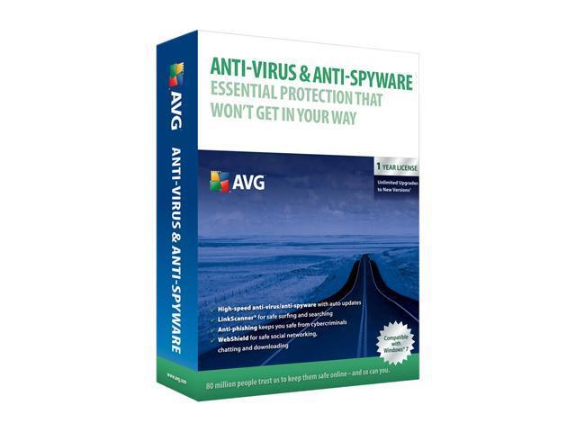 AVG Antivirus+Antispyware 9.0 1 Year