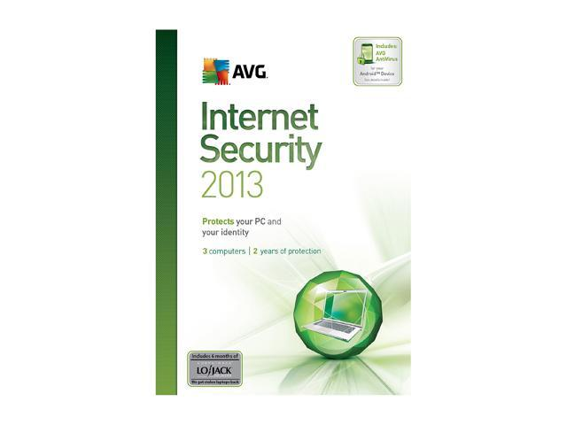 AVG Internet Security 2013 3 PCs (2-Year) - Download