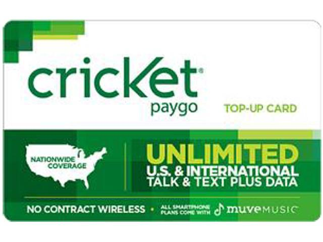 Cricket PayGo $10 Card (Email Delivery)