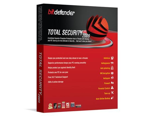 Bitdefender Total Security 2009 - 1Year/1PC