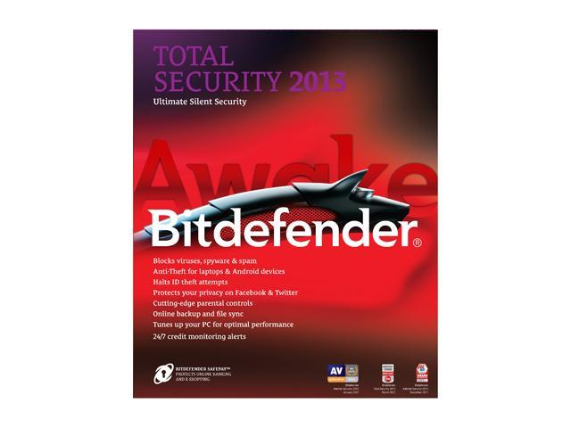 Bitdefender Total Security 2013 - 3 PCs / 1 Year