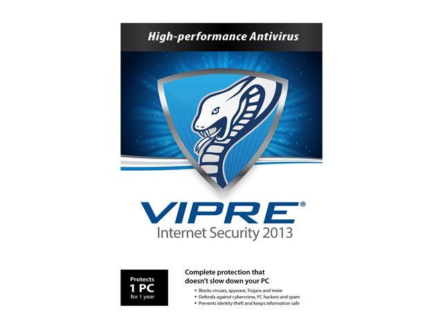 VIPRE Internet Security 2013 - 1 PC - Product Key Card (no media)