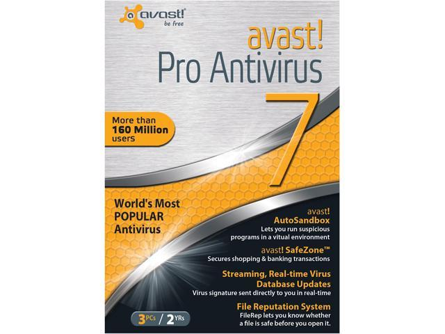 Avast Pro Antivirus - 3 PCs (2 Year)