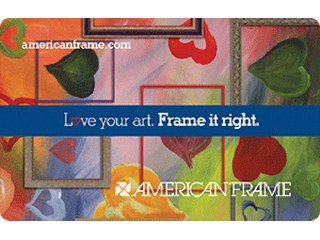 American frame $20 Gift Card ( Email Delivery)