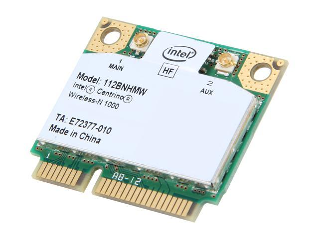 Intel 112BN.HMWWB Mini PCI Express Centrino Wireless-N 1000 802.11b/g/n Wireless Half Mini PCIe Card