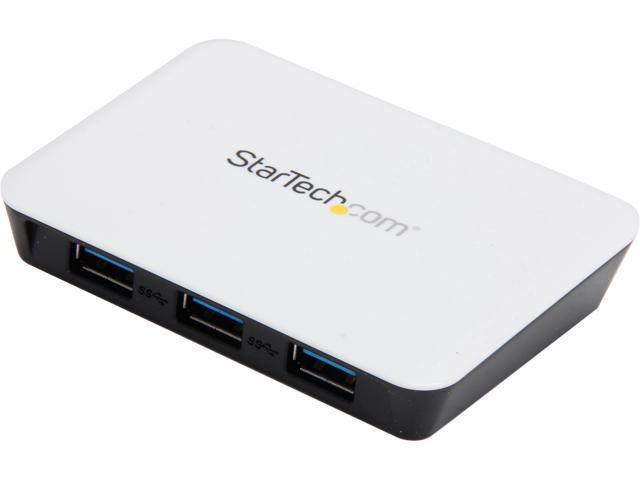 StarTech ST3300U3S USB 3.0 to Gigabit Ethernet NIC Network Adapter with 3 Port Hub - White