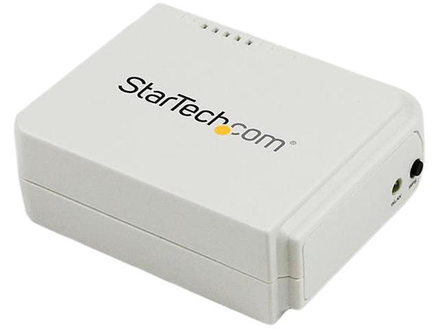 StarTech.com 1 Port USB Wireless N Network Print Server with 10/100 Mbps Ethernet Port - 802.11 b/g/n - Wireless USB 2.0 Print Server