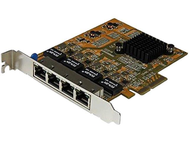 StarTech.com 4-Port PCI Express Gigabit Network Adapter Card - Quad-Port PCIe Gigabit NIC